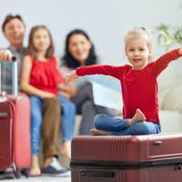 family preparing for the journey
