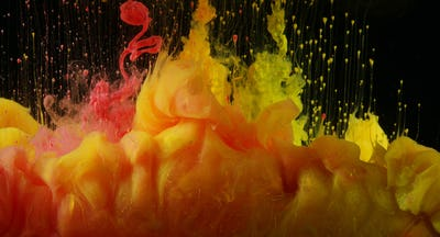 Acrylic colors in water. Ink blots. Abstract background.