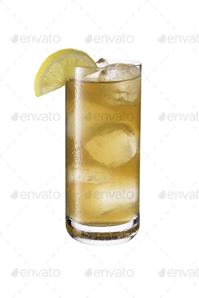 Long Island Iced Tea Cocktail on White
