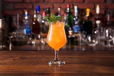 Refreshing Mint Zombie Cocktail