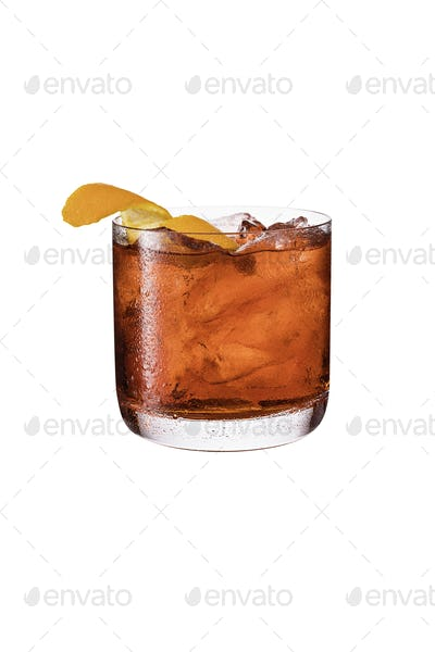 Refreshing Gin Negroni Cocktail on White
