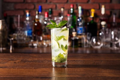 Refreshing Rum Mint Mojito Cocktail