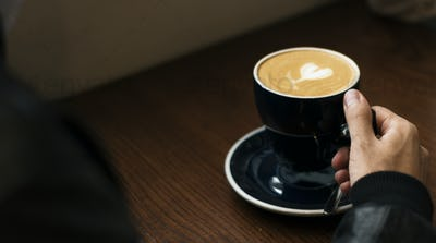 Coffee cup closeup