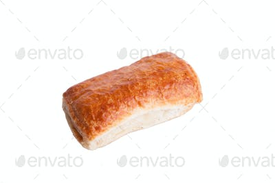 Puff and tasty pastry isolated on white background