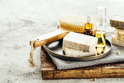 Spa composition with natural homemade soap