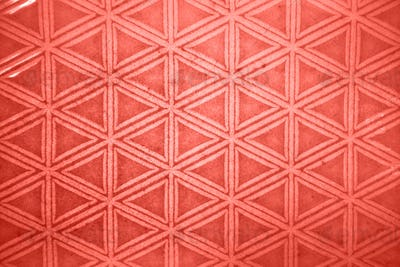 Decorative ceramic tile figured pattern in a trendy color of the year 2019 Living Coral pantone