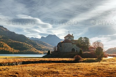 Amazing sunny day at Champferersee lake