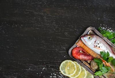 Fresh fish and seafood