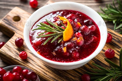 Cranberry sauce with orange and rosemary