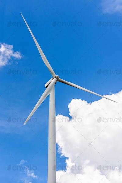 Wind turbine on sky
