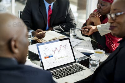 Graphic of investment stock market data analysis business