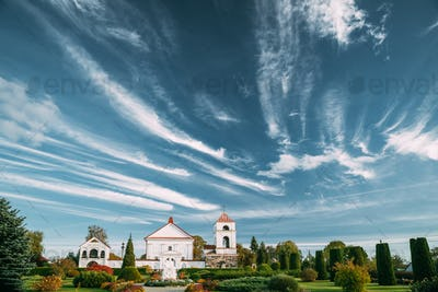 Mosar, Vitebsk Region, Belarus. Church Of St. Anne In Sunny Day