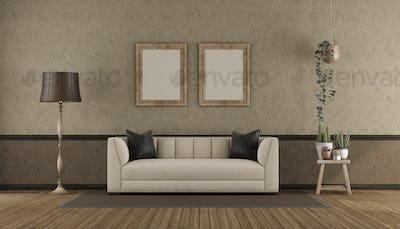 Retro interio with classi sofa
