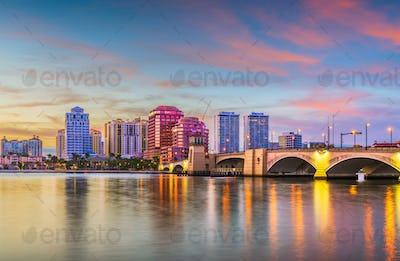 West Palm Beach, Florida, USA downtown skyline