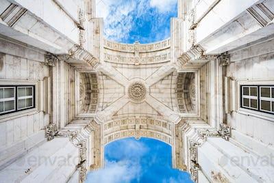 Lisbon, Portugal Commerce Plaza Arch