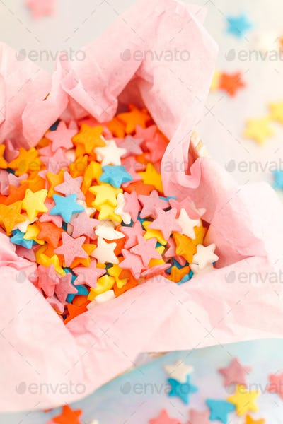 Small sweet colourful candies