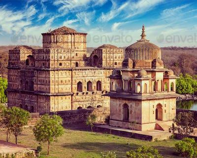 Royal cenotaphs of Orchha, India