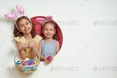 children on Easter day