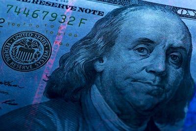 American Dollars in UV rays