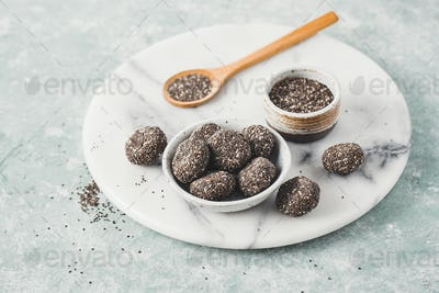 Healthy energy balls made from dried fruits