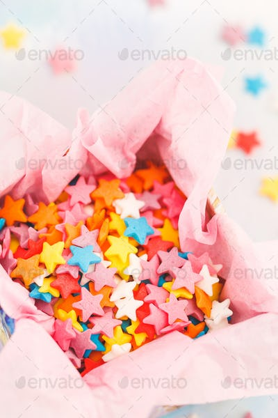 Small sweet various colourful candies