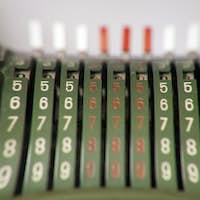 Old Vintage Antique Metal Calculator