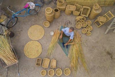 Craft Of A Weaving Baskets