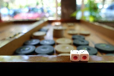 Bagkgammon Game and Dices