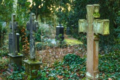 Cross Stone in Cemetery