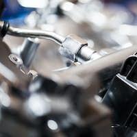 Modern Technology Cars Motor Engine Macro