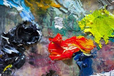 Paint Brush Art Color Palette