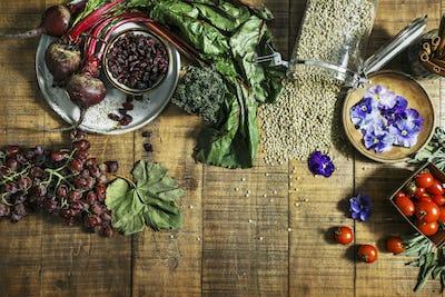 Vegan rustic ingredients