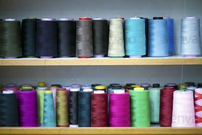 Fiber Fabric Roller on bobbin and light ropes Yarn