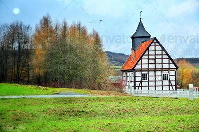Vintage Old German Farm House and Nature