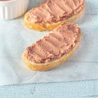 Sandwich with chicken liver pate