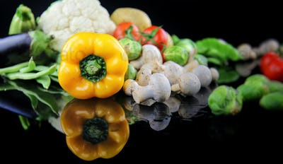 Healthy Fresh Mix of Raw Vegetable Composition