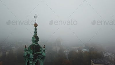 Aerial View of Krakow, Wawel Royal Castle