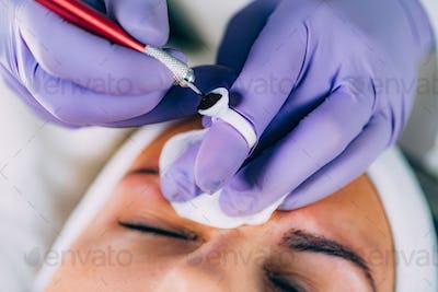 Semi-Permanent Brow Makeup