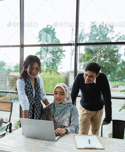 mentoring female employees by more experienced department head witnessed by CEO