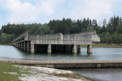 Unfinished bridge from World War II