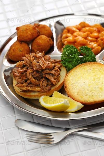 North Carolina barbecue plate