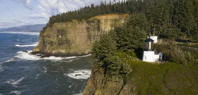 Cape Mears Lighthouse High Bluff Pacific Ocean Oregon Coast