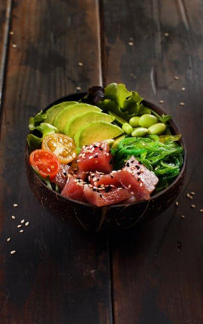 Hawaiian tuna poke bowl