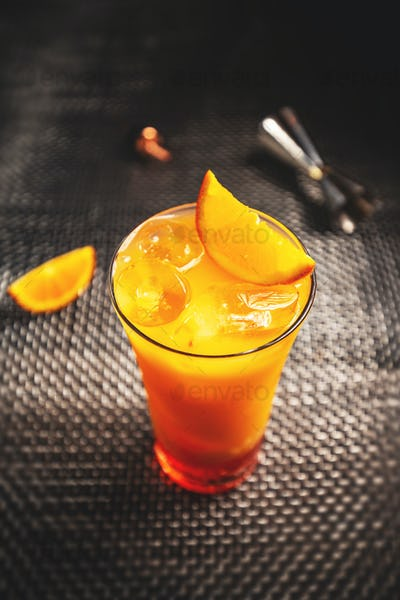 Refreshing aperol orange cocktail