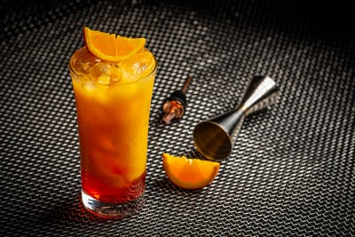 Classic italian aperol orange cocktail