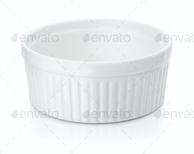 Round ceramic baking dish