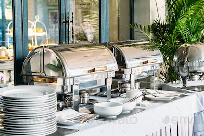 Breakfast with Catering buffet in restaurant