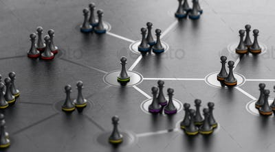 Social Networking Concept. People Connected Together with a Leader