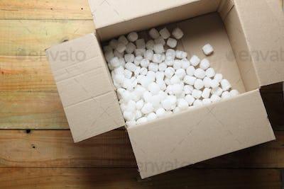 Box with Styrofoam