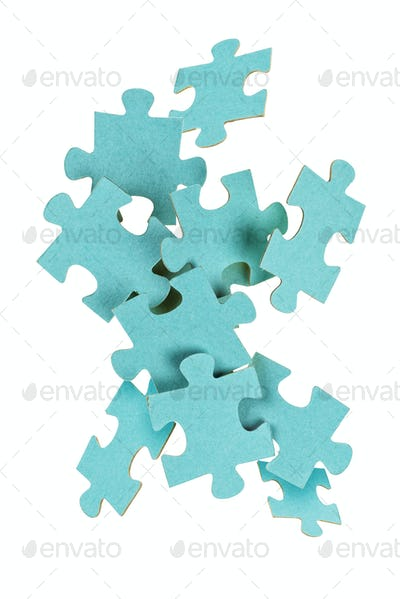 Puzzle game isolated on white